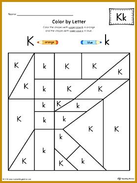Lowercase Letter K Color by Letter Worksheet 372279