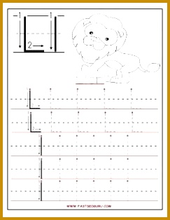 Printable letter L tracing worksheets for preschool Free writing practice worksheets for 1st graders 314243