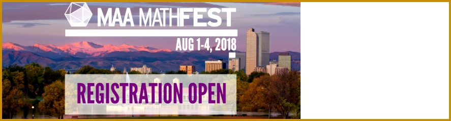 Sign up for MAA MathFest in Denver 887239