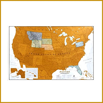Scratch USA Scratch off places you travel map America US Detailed 433433