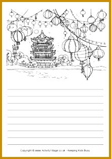 Chinese New Year Activities FREE Chinese lanterns story paper 313219