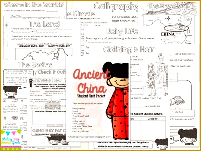 Learning about Ancient China This is the perfect student workbook that goes along with any 502669