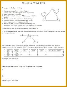 Kelsoe Math Triangles Unit Interior Angle Sum and Exterior Angle Remote Interior Angles 284219