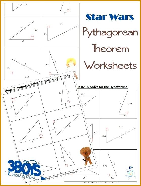 Star Wars Pythagorean Theorem Worksheets 738558