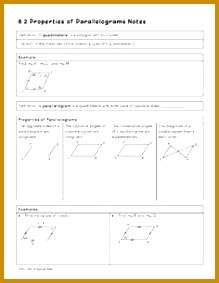 Properties of Parallelograms Lesson 283219