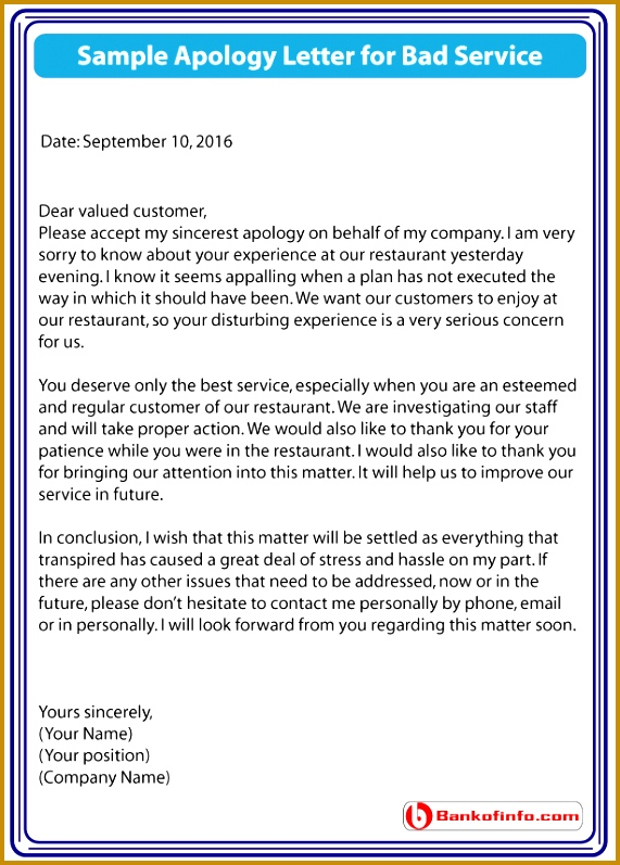 apology letter for bad service 797571