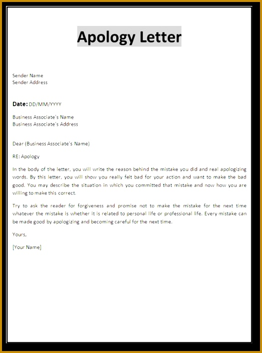 apology to customer for poor service sample work apology letter 708525