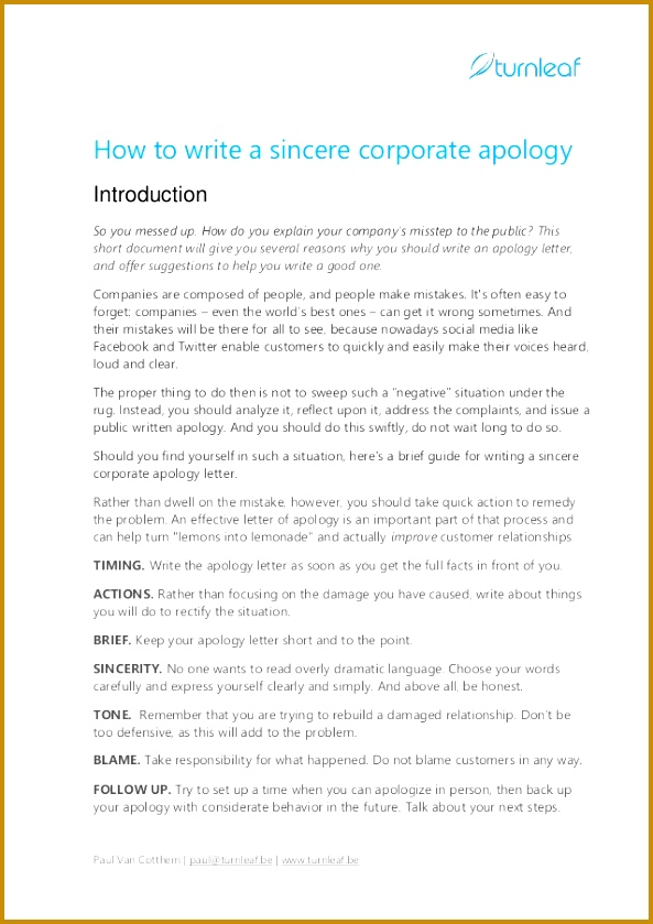 How to write a sincere corporate apology Introduction So you messed up 593839