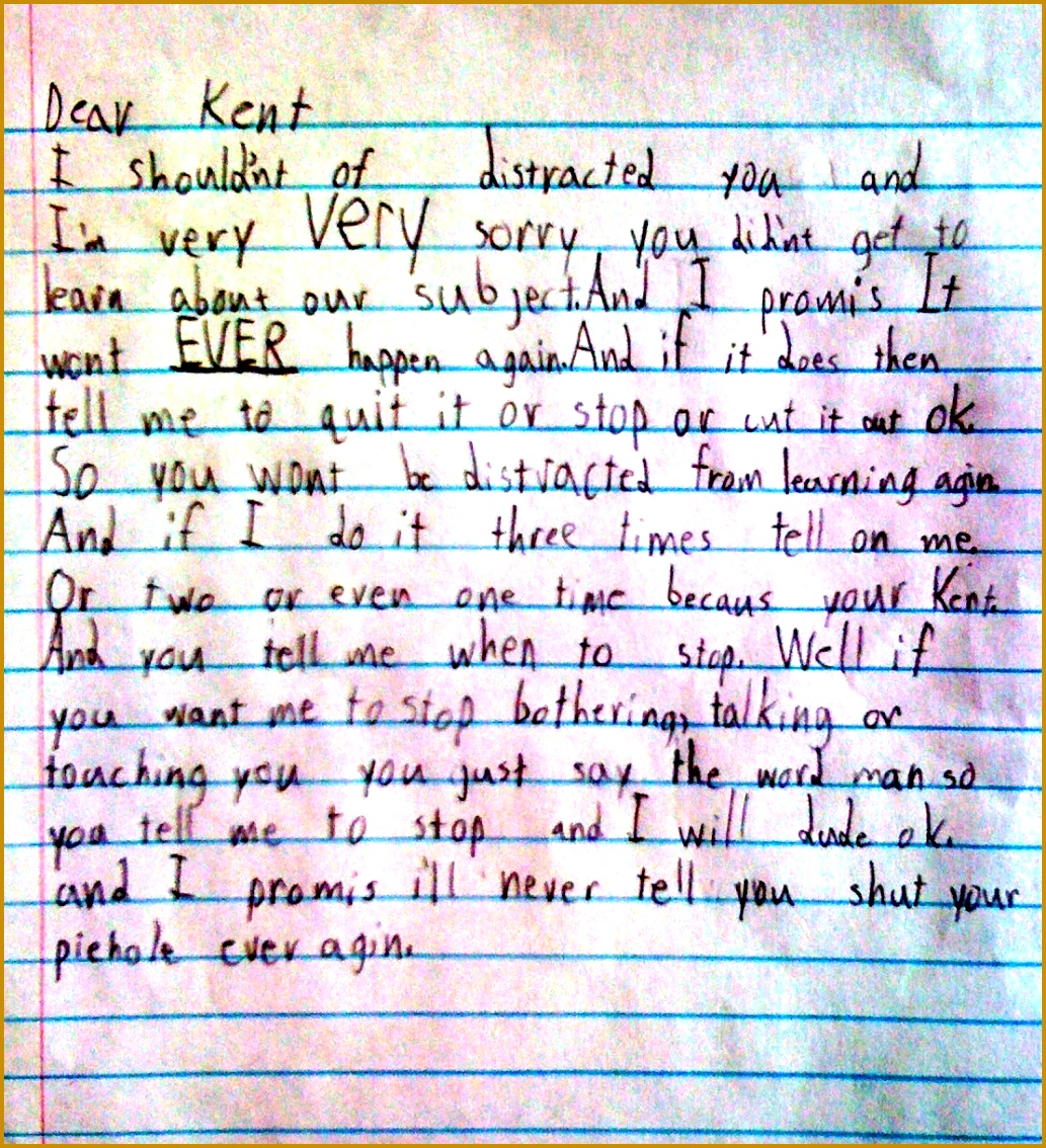 Kids Apology Letter 11341033