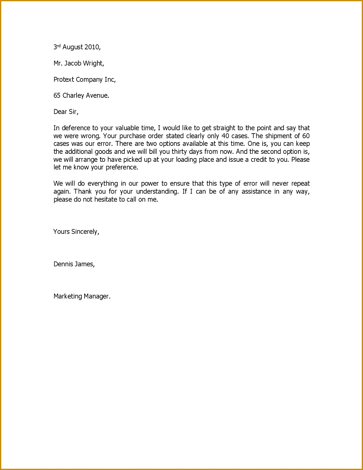 Bunch Ideas format for Apology Letter formal and Best Template Collection with Template for Apology Letter 15341185