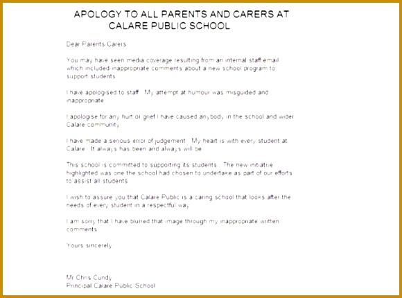 7 Apology Letter to Teacher for Misbehavior | FabTemplatez