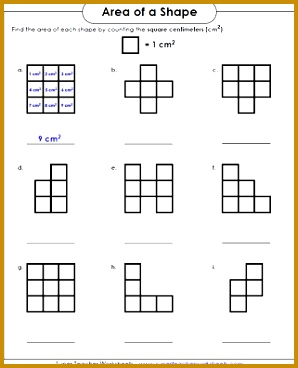 Area Worksheet Counting Squares 298368