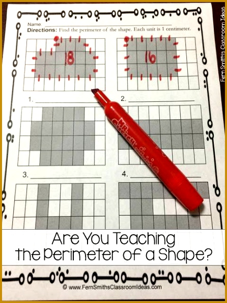 Are You Teaching Perimeter of a Shape Find printables center games and task cards 595446