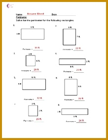 Area and Perimeter with Squares and Rectangles Measurement And Data mon Core 283219