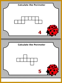 40 Perimeter Task Cards 3rd Grade Math Centers Perimeter Game SCOOT Review 292219