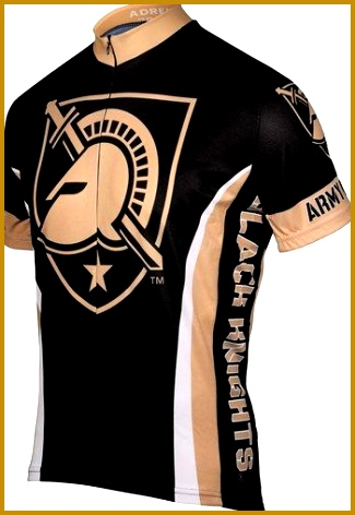 The West Point Military Academy Army Cycling Jersey has raglan sleeves and three roomy back pockets It is made from moisture transfer antibacterial 472325