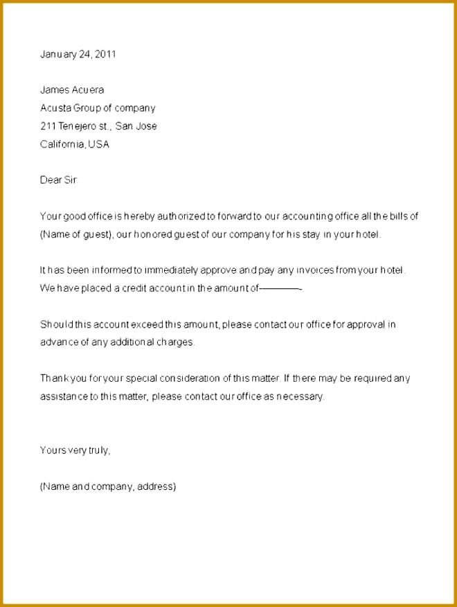 3 Authorisation Letter Collection Template