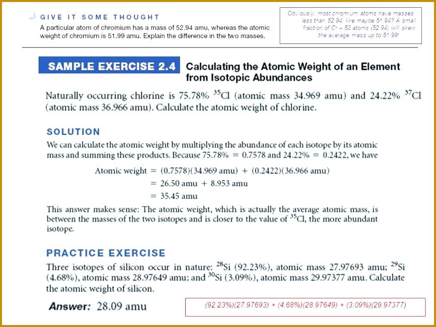 6 Average atomic Mass Worksheet Answer Key   FabTemplatez