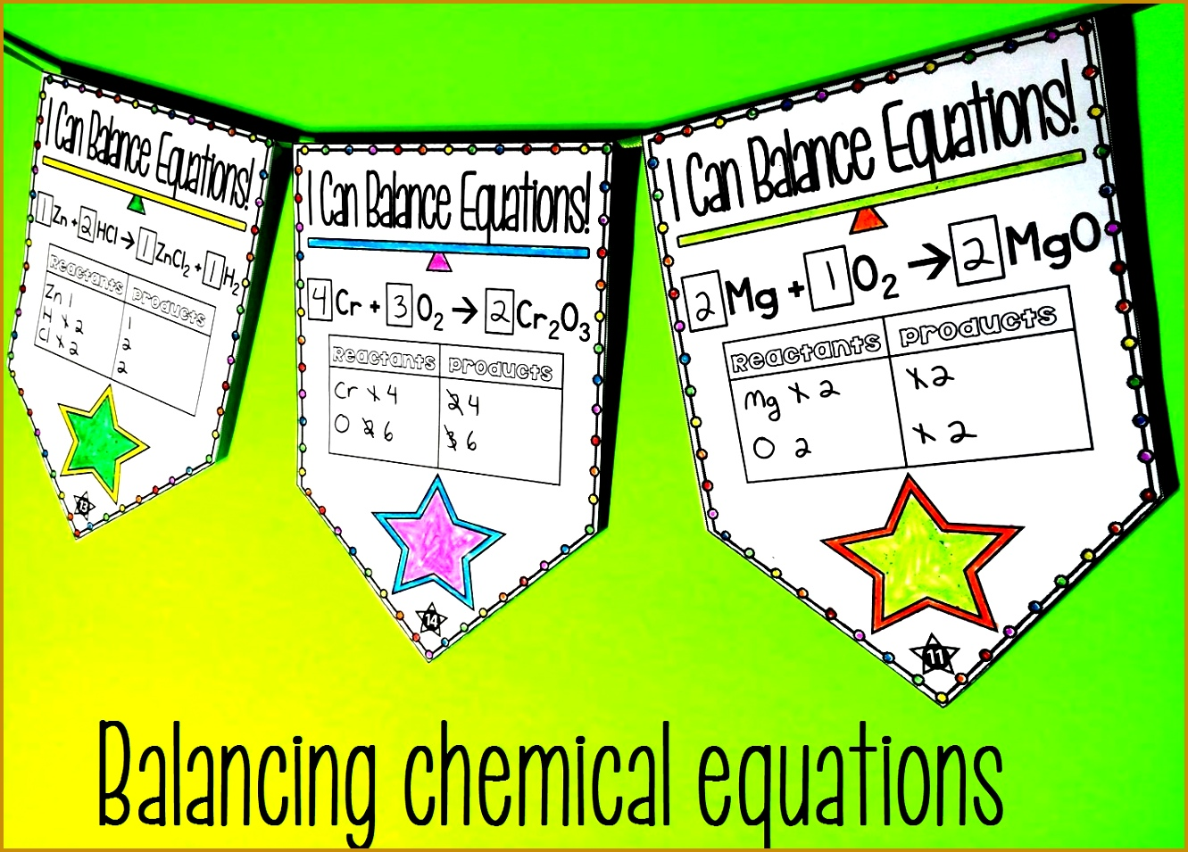 Balancing Chemical Equations Pennant 9551331