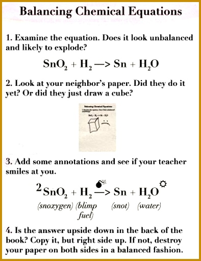 How to balance equations via Fake Science 511394