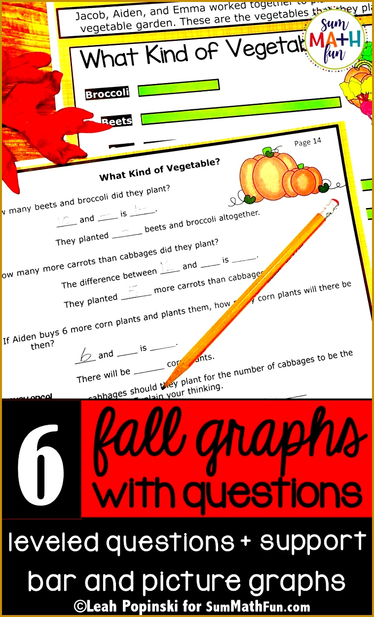 Fall Bar Graphs and Pictographs NO PREP Graphing With Worksheets 1249758