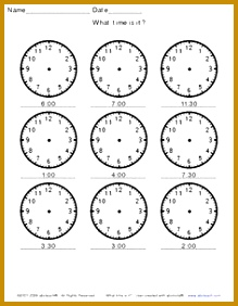 Blank Clock Worksheets 91284 Analogue Clock Worksheet Maker Make Your Own Tailored Worksheets