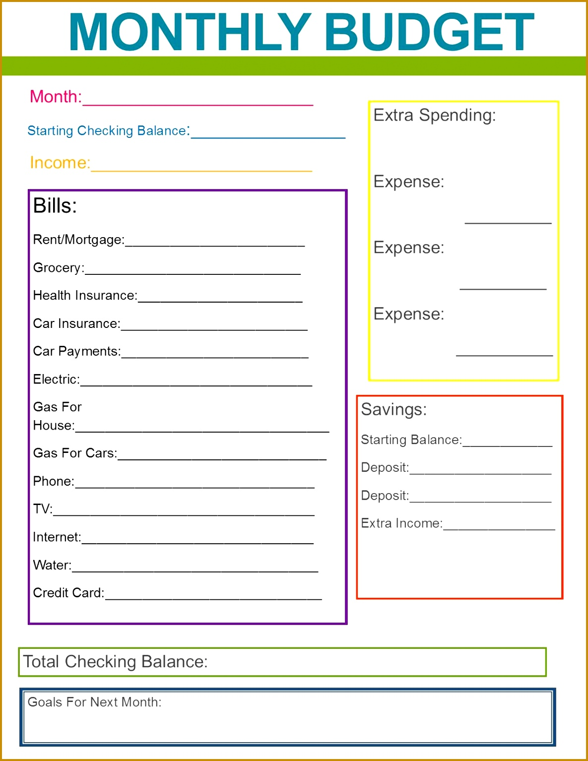 Monthly Family Bud Great habit to start for the new year Monthly Bud PrintableBud Planner 15341185