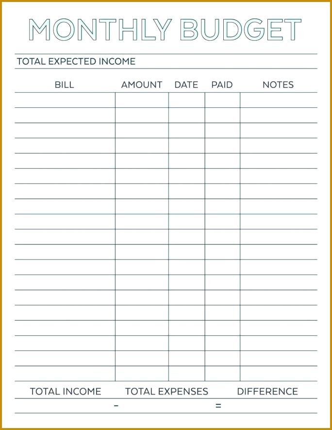 Bud Planner planner worksheet monthly bills template free printable free Simple Monthly Bud Planner printable monthly 885684