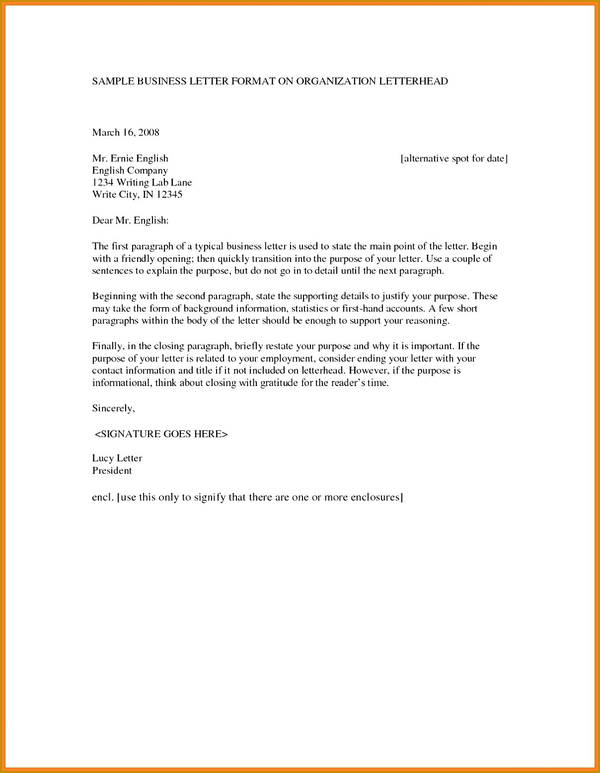 5 business letter format with letterhead 12081556