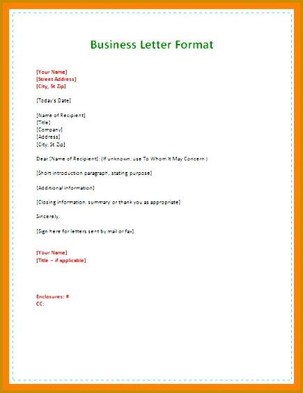 formal letter format to pany simple formal business 564435