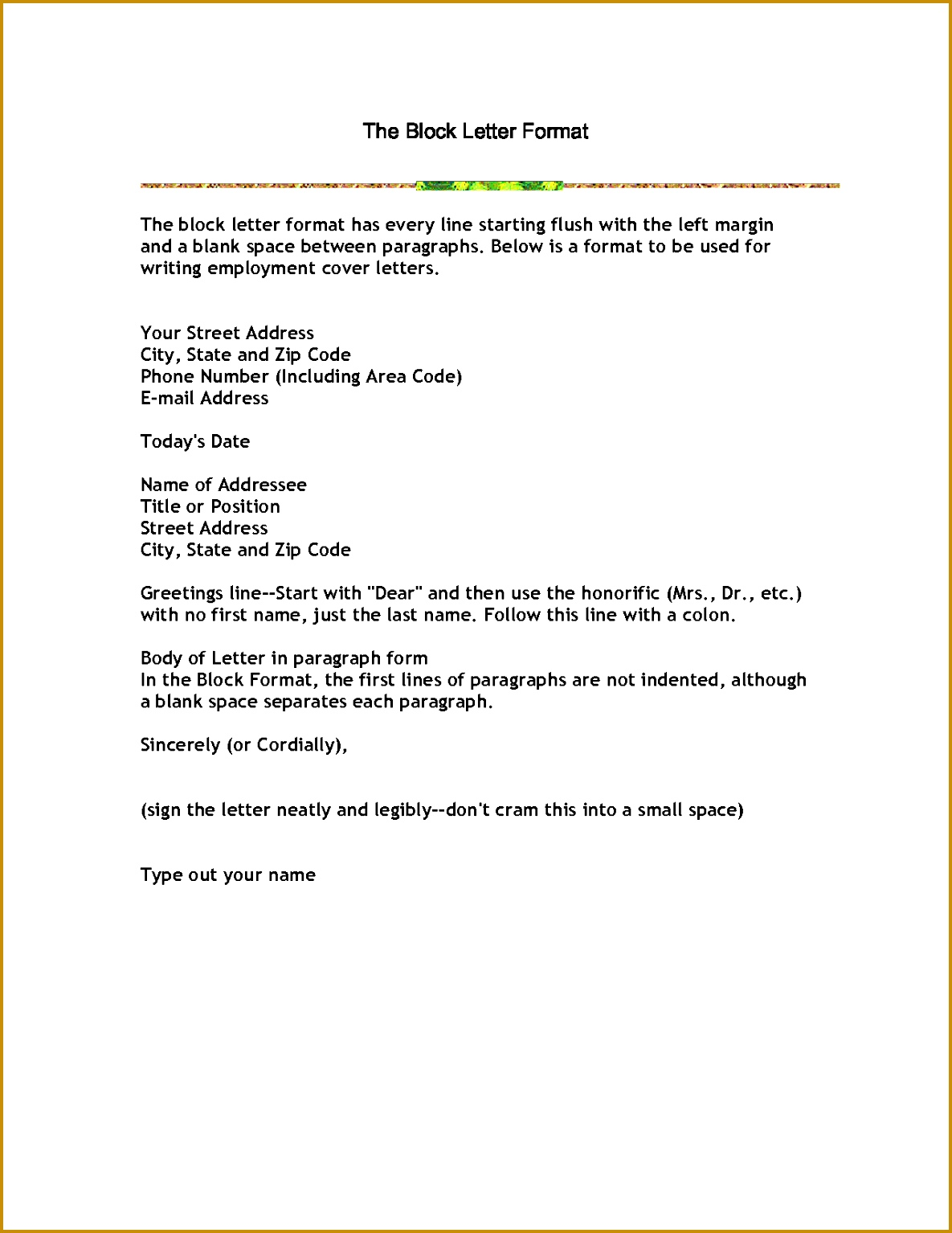 cover letter Business Letter Block Format Business Cover For Resume Administrationblock format resume Extra medium size 15341185