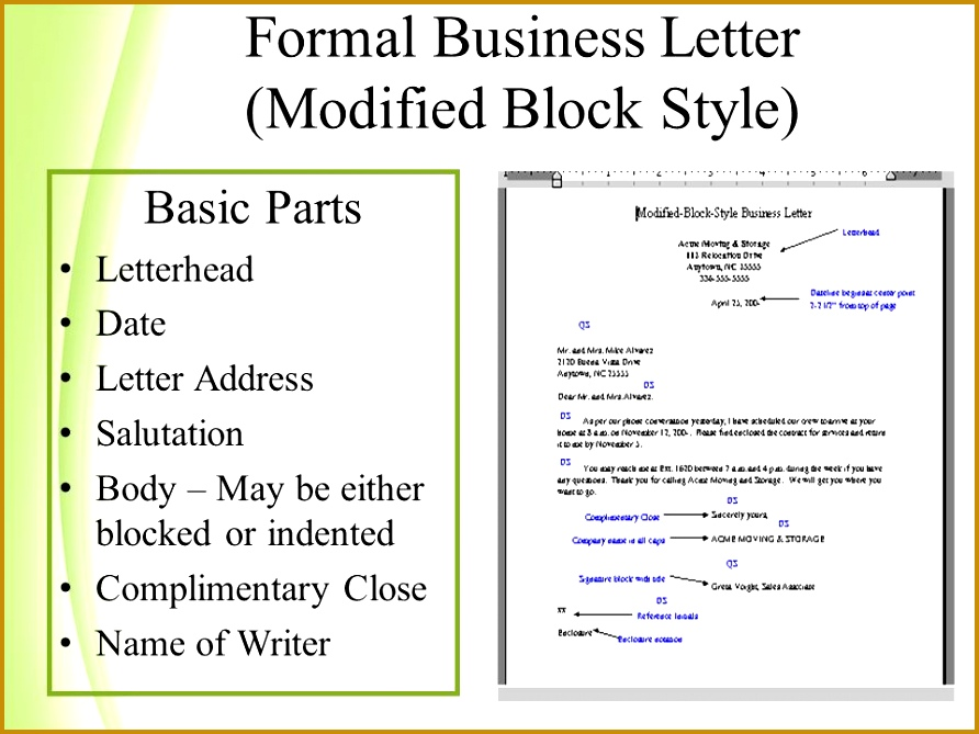 Blocked style letter format ibovnathandedecker business letter modified block format images letter format example fbccfo Image collections