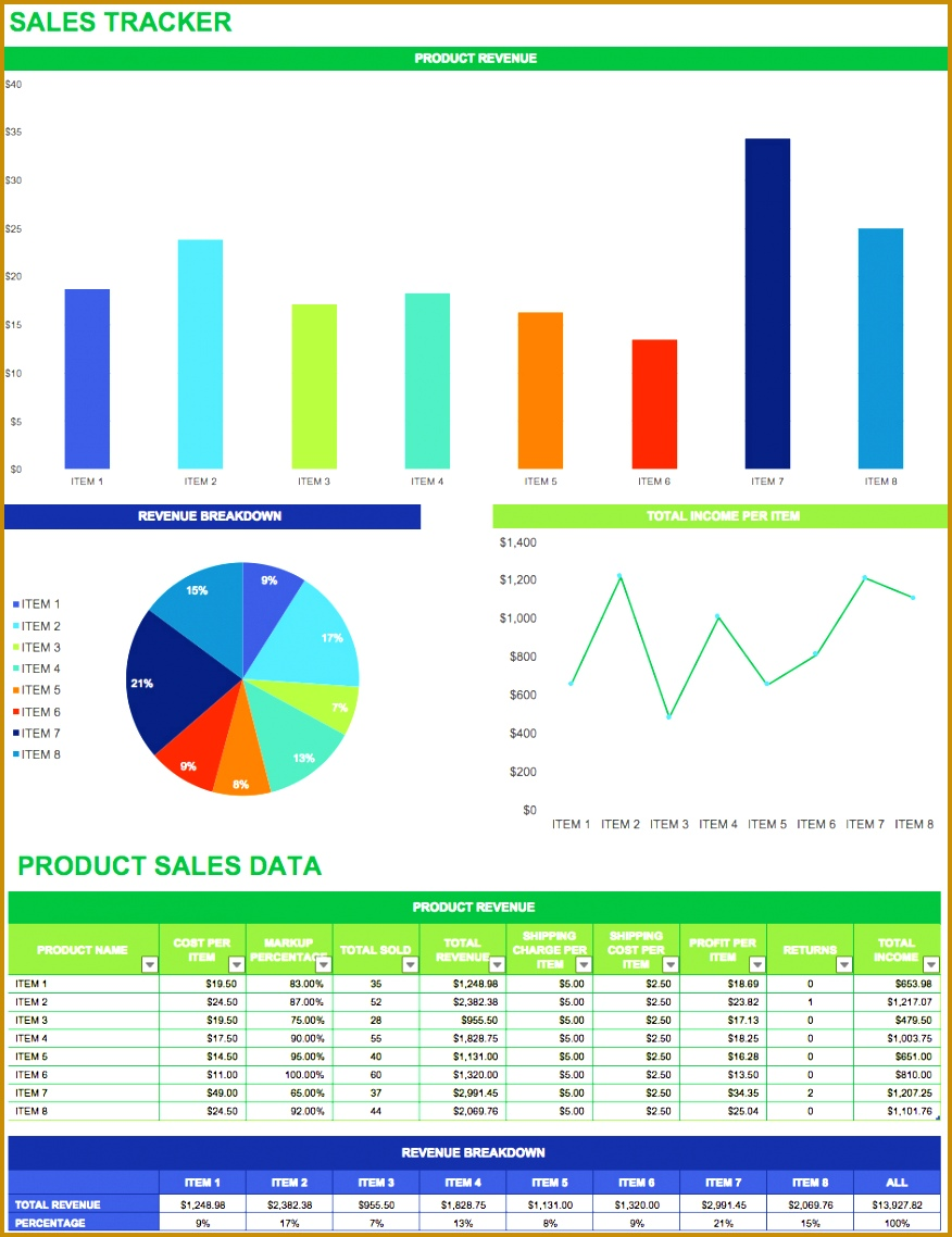 sales tracker template 8761138