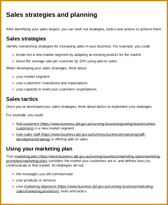 4 Business Plan To Increase Sales Template