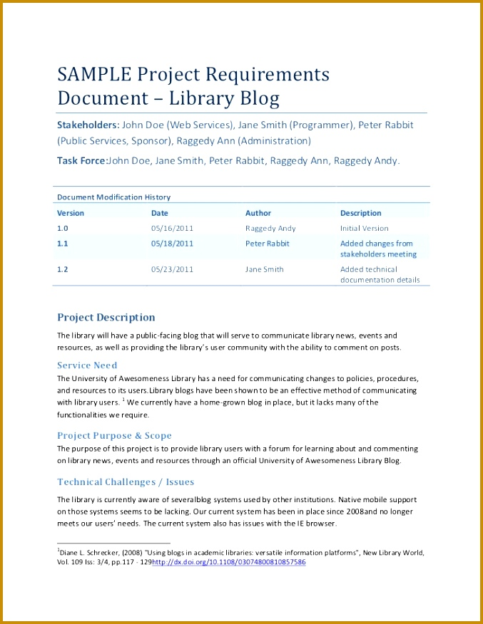 7 Business Requirements Document Template