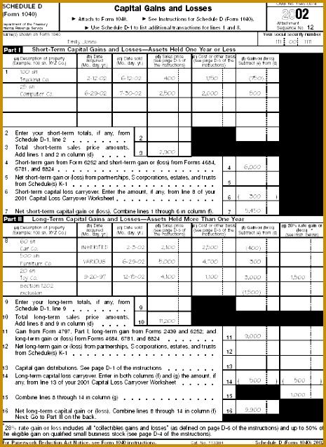 Schedule D Form 1040 637465