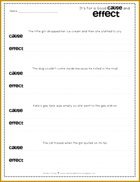 6 Cause and Effect Worksheets