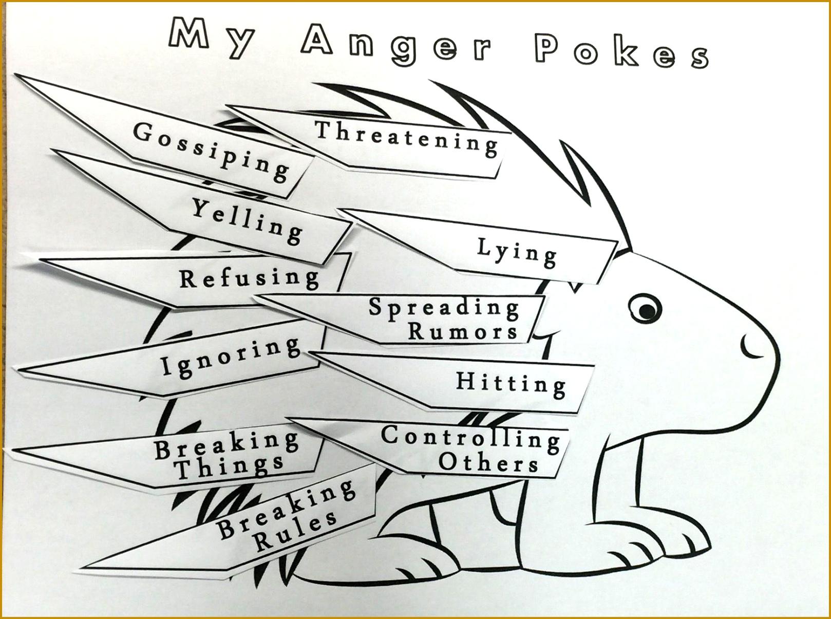 Worksheets Therapeutic Worksheets For Children cbt worksheets for children 71536 how to prevent bullying worksheet 79187 anger porcupine pokes flip book art craft