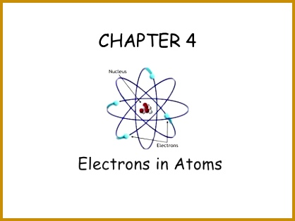 CHAPTER 4 Electrons in Atoms 314418