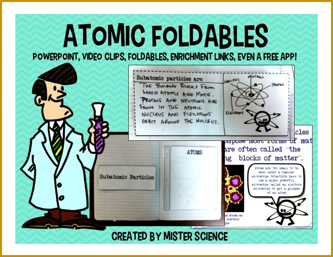 Chapter 4 atomic Structure Worksheet Answer Key 63776 atoms atomic Structure Pwpt Foldable Interactive Notebook 4 5 6 7