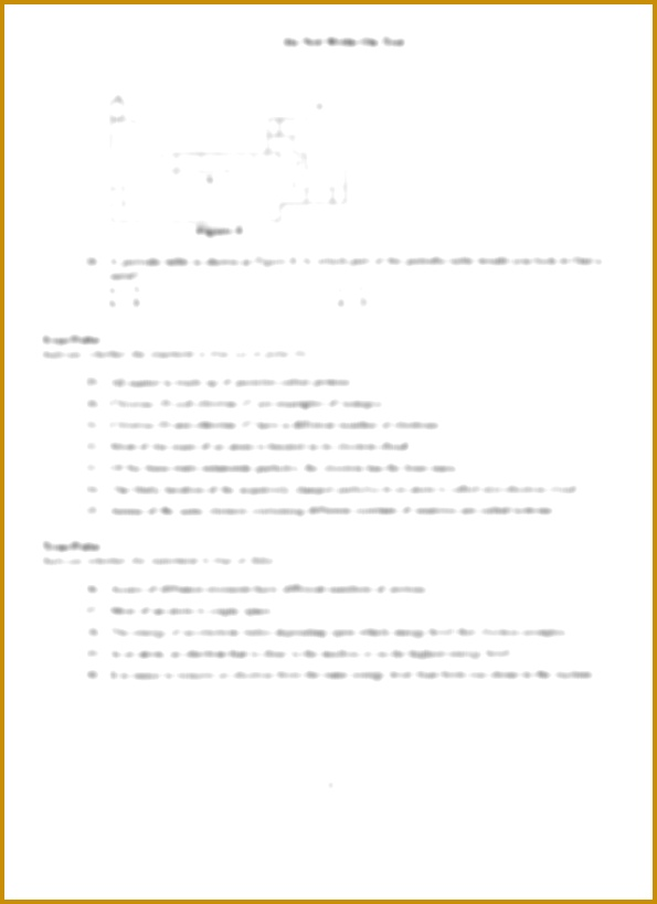 Chapter 4 atomic Structure Worksheet Answer Key 88088 atomic Structure Exam2 Do Not Write On Test Chapter 4 atomic
