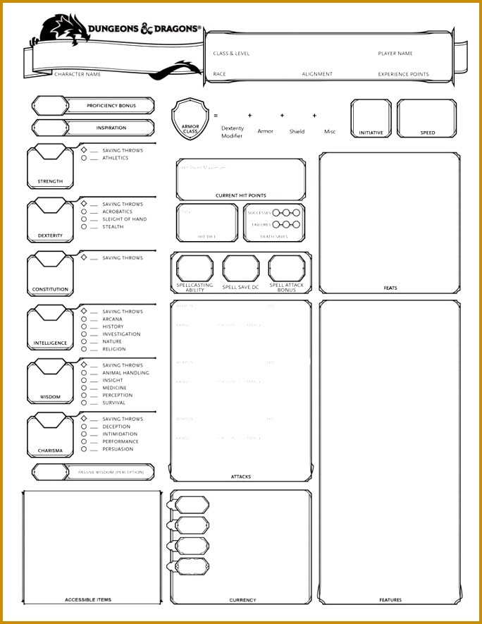 D&D Alternate Character Sheets 684885