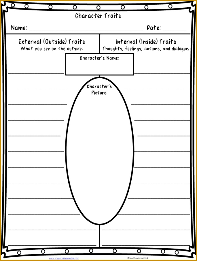 free character traits worksheet click through for book re mendations for teaching character traits 903684