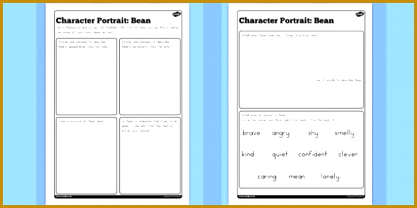 Character Profile Bean Worksheet to Support Teaching on Fantastic Mr Fox australia 292585
