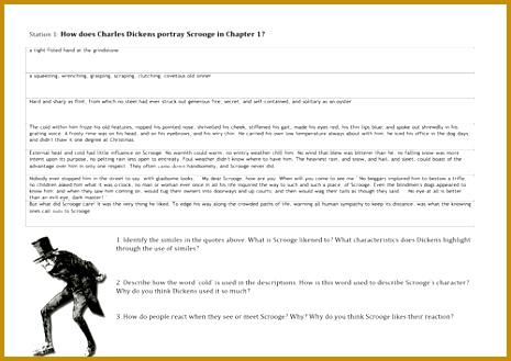 Scrooge Character Analysis for Secondary KS3 year 329465