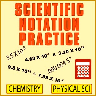 Chemistry Worksheets Scientific Notation Science Ideas Physical Science Task Cards Physics 324325