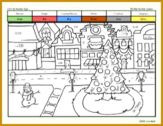 Christmas Coloring Page for Middle School Math Students T 252325