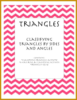 5 Classifying Triangles by Sides and Angles Worksheet