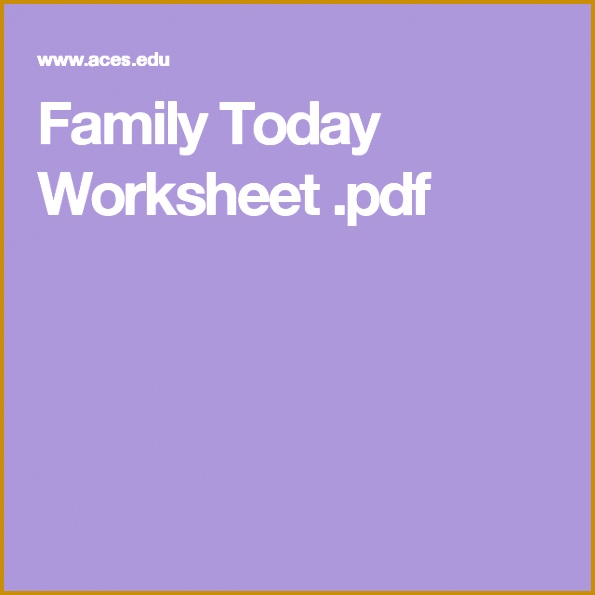 Family Today Worksheet pdf 595595