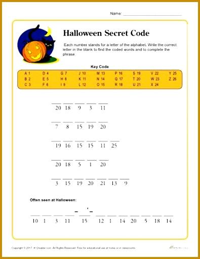 Halloween Secret Code Printable Activity 511395